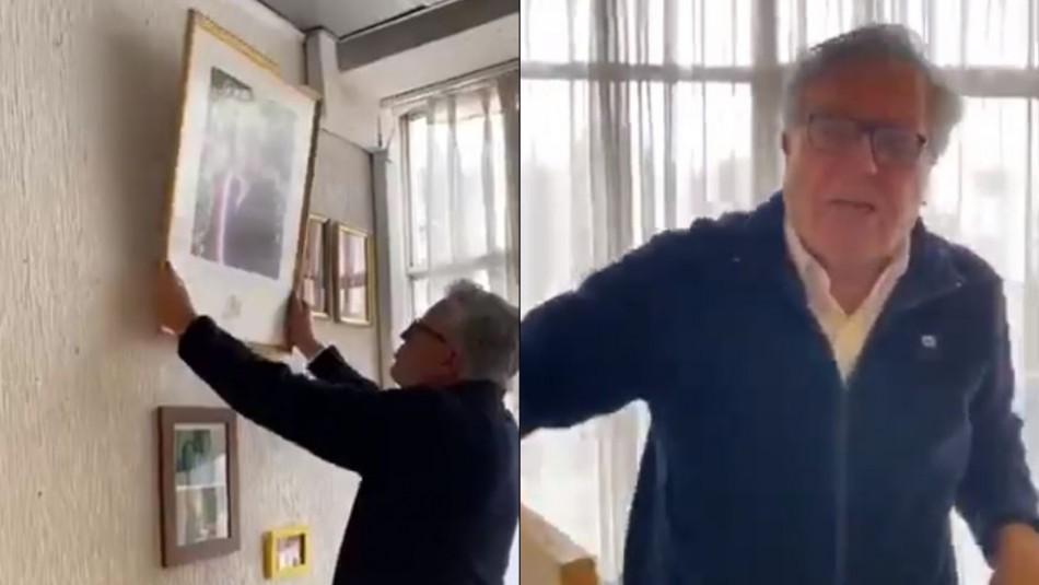 Alcalde retira cuadro de Piñera: