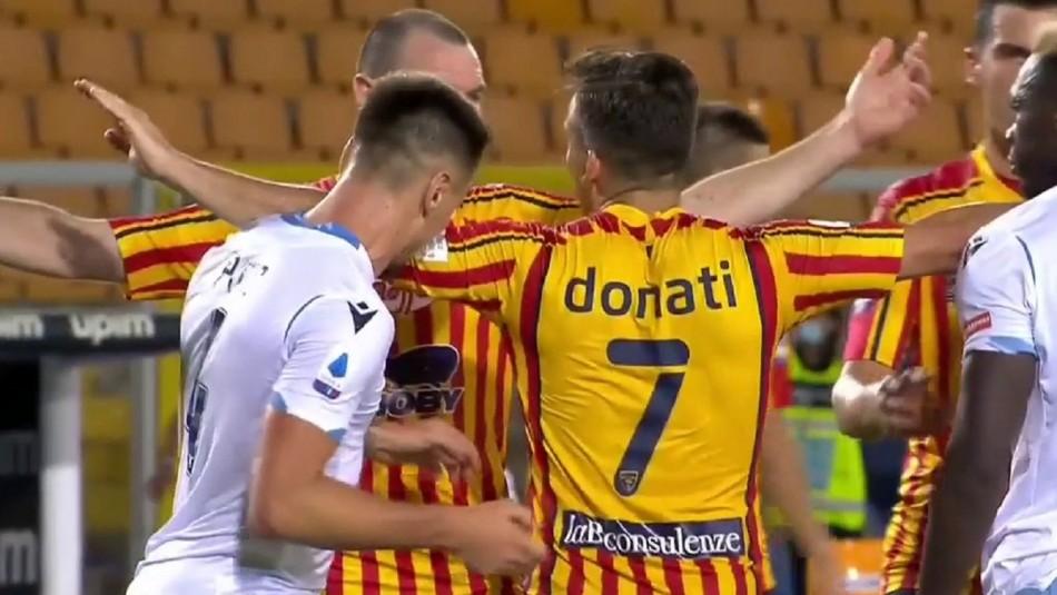 Jugador mordió a rival en Italia.