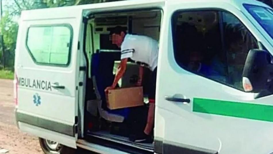 Insólito delivery: Ambulancia transportaba fernet para hijo de un intendente en Argentina