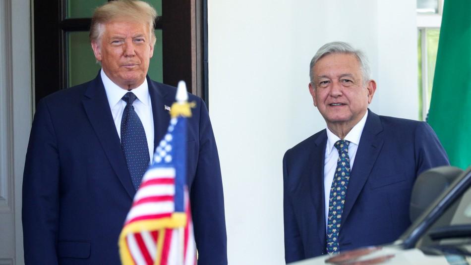 Entre críticas y protestas Trump se reúne con López Obrador en la Casa Blanca