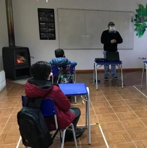 Así fue el regreso a clases presenciales de una escuela rural de Aysén