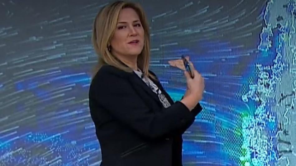 Michelle Adam anticipa nuevo sistema frontal para el sur y posible lluvia en cordillera para Santiago