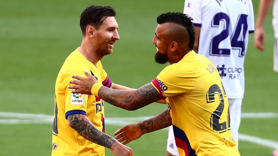 Un zapatazo: Arturo Vidal anota en triunfo parcial del Barcelona