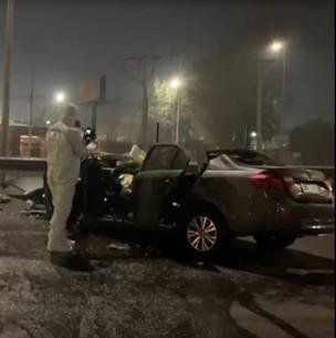 Un conductor fallecido y su acompañante en estado de gravedad tras violento accidente en Ruta 5 Norte