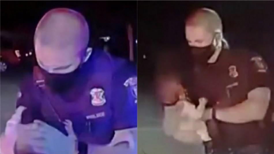 Policía salvó a bebé de morir de una asfixia tras oportuna reanimación