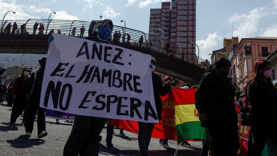 Marchas en Bolivia para retirar fondos de pensiones en medio de crisis económica por coronavirus
