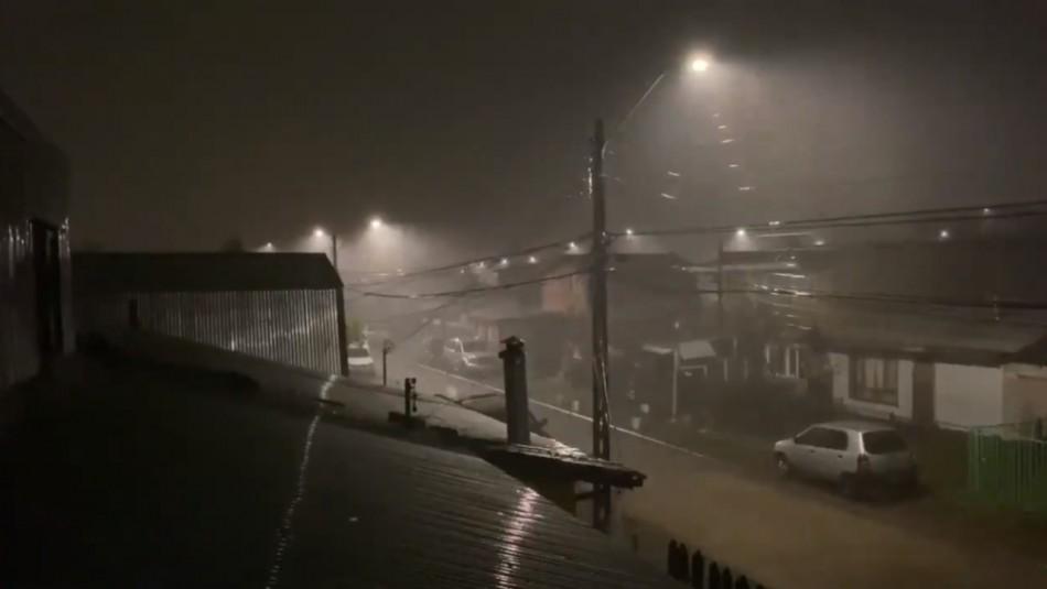 Temporal en Valdivia: Fuertes vientos, intensas precipitaciones y tormenta eléctrica