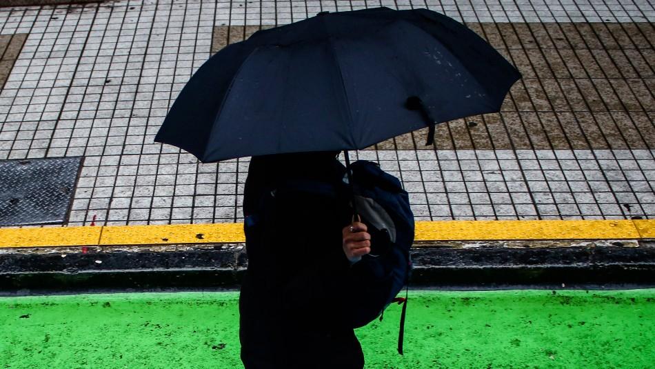 Meteorología anuncia lluvias para la madrugada de este domingo en la Región Metropolitana