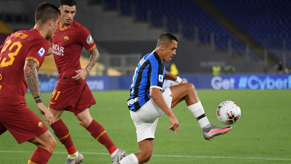 Con Alexis Sánchez los 90 minutos: Inter iguala ante Roma en la Liga Italiana