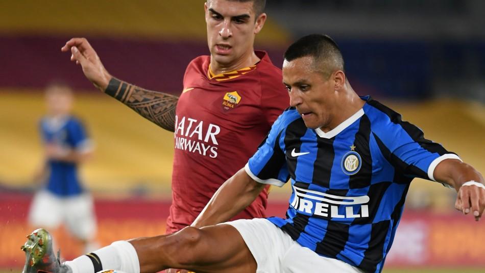 Inter de Milán rescata un agónico empate ante la Roma con Alexis Sánchez como titular