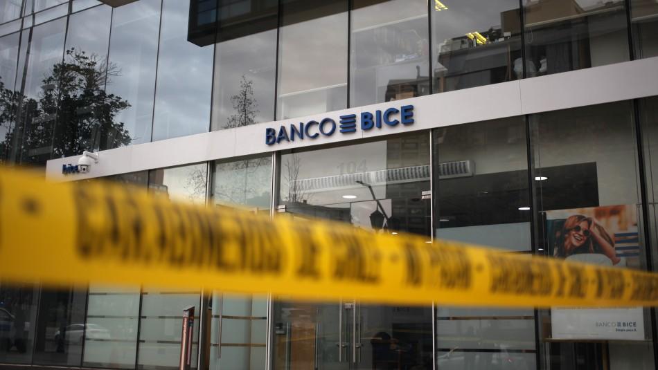 Denuncia por robo a Banco Bice.