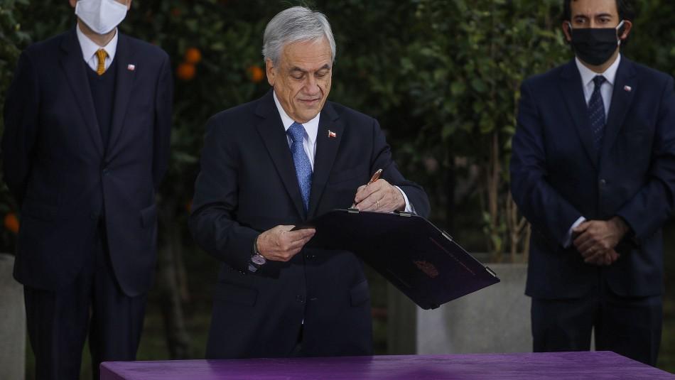 Presidente Piñera promulga Ley que permite el retiro de fondos de AFP