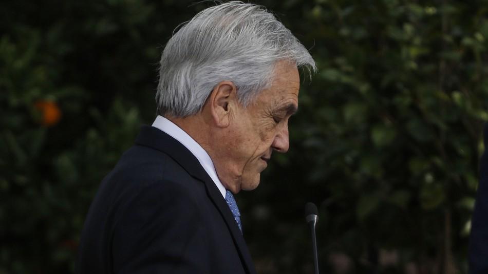 Cadem: Aprobación de Piñera llega a 12% y acumula 15 puntos de caída en cuatro semanas