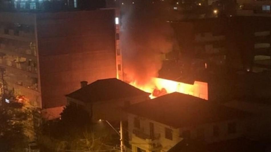 Incendio afecta a una vivienda ubicada en Ñuñoa