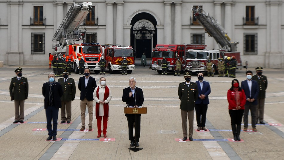 Presidente Piñera promulga ley que endurece sanciones para quienes agredan a bomberos en servicio