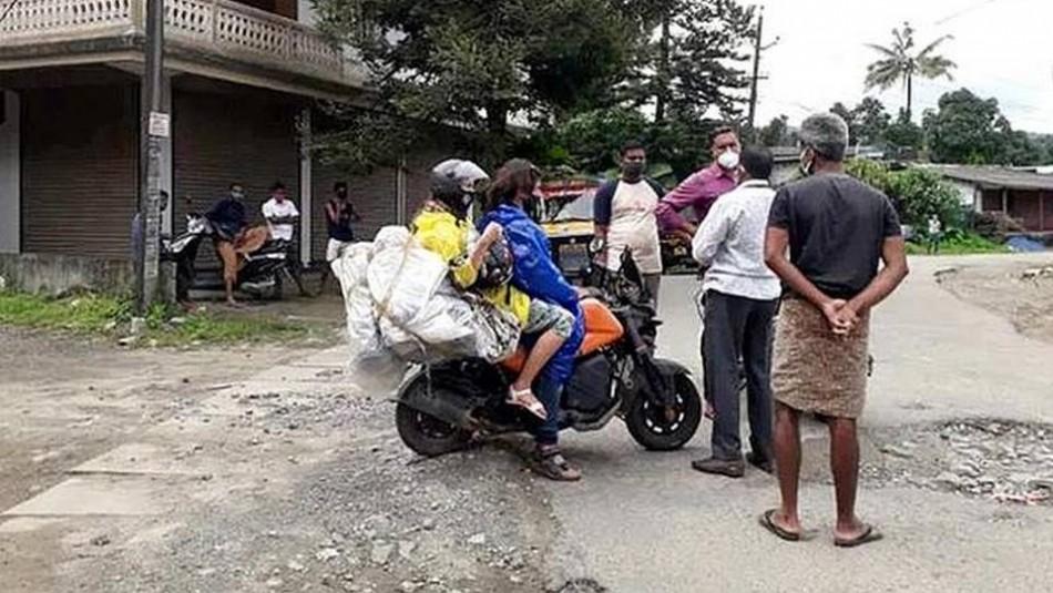 Pareja chilena varada en India es detenida tras dormir en una carpa en el patio de una casa