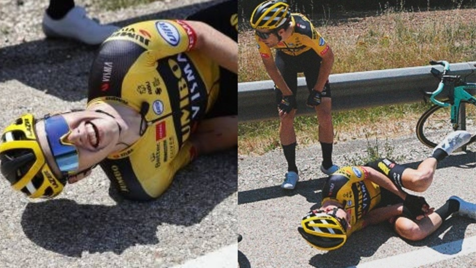 Ciclista pierde un dedo tras protagonizar dura caída en España
