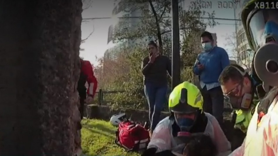 Repartidor delivery salva a mujer en Canal San Carlos.