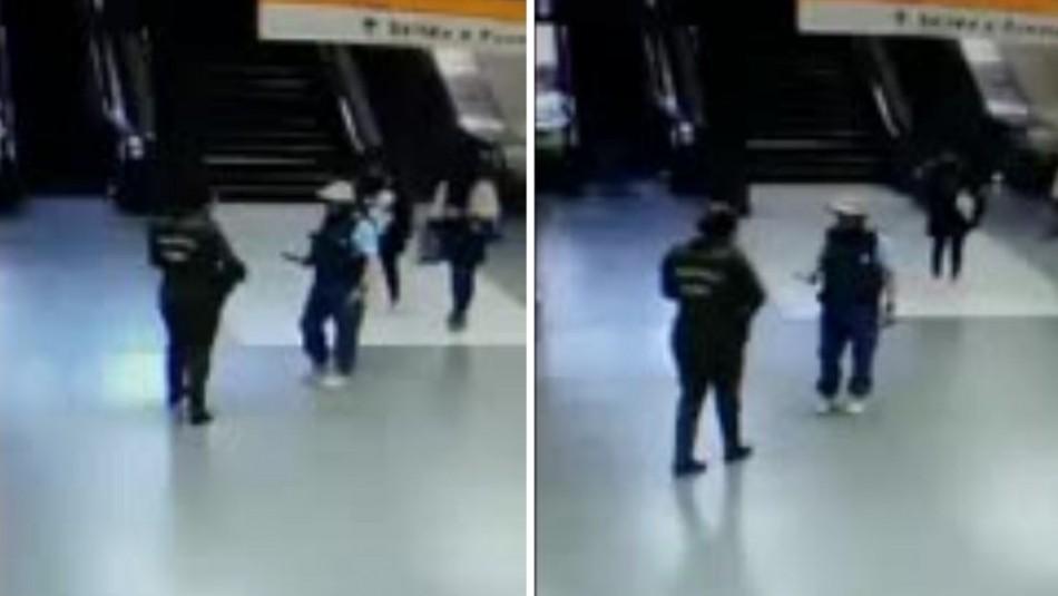 Hombre fue baleado tras intimidar con un cuchillo a carabinera en Metro Cal y Canto