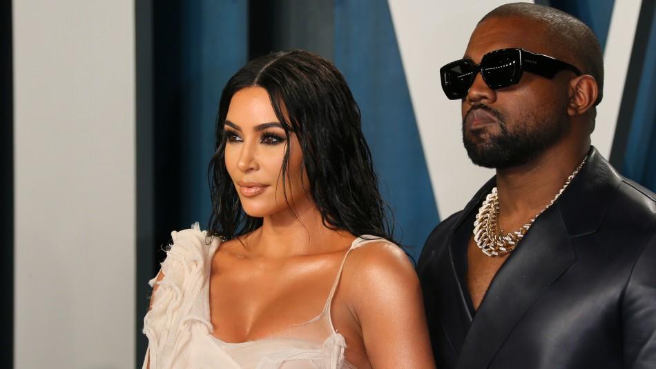 Kim Kardashian y Kanye West estarían viviendo separados tras episodio de bipolaridad del rapero