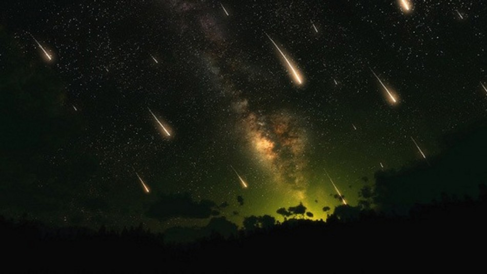 Calendario de lluvia de estrellas.