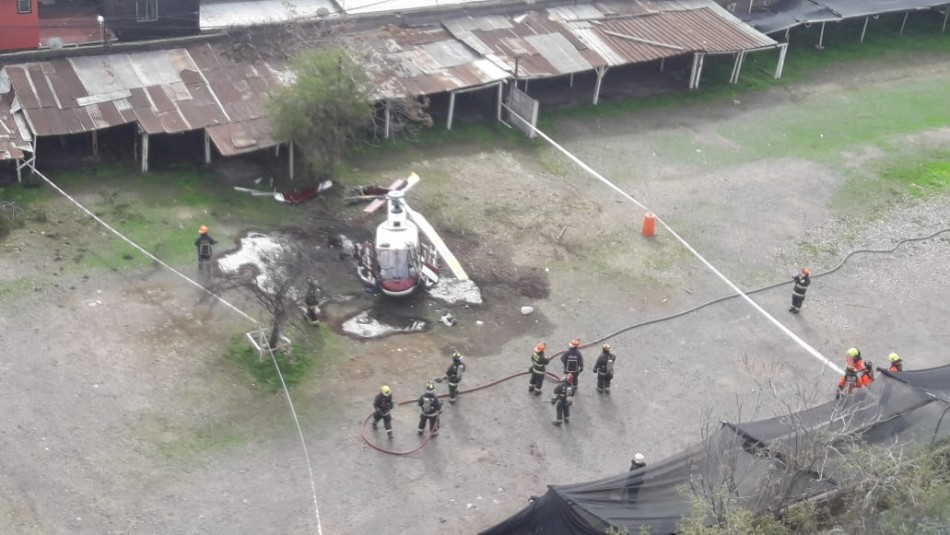Caída de helicóptero en hospital.