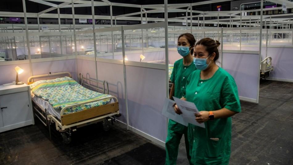 Hong Kong abre un hospital provisional para pacientes de coronavirus