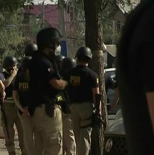 PDI realiza copamiento policial en La Florida tras balacera que dejó a dos detectives heridos