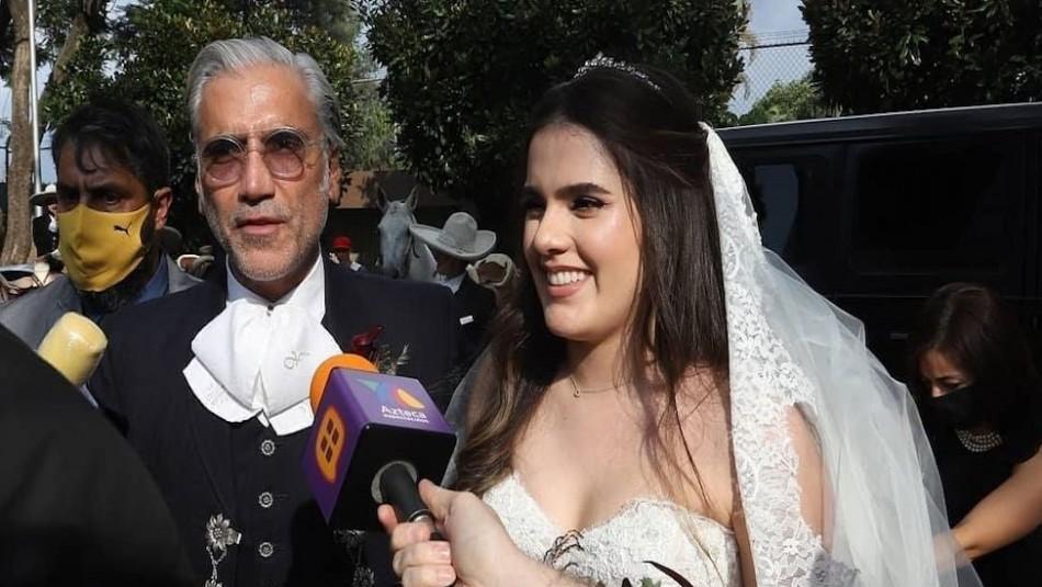 Los videos de la boda de la hija de Alejandro Fernández en plena pandemia con un hombre que conoció en una