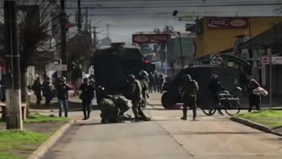 Marcha no autorizada en Collipulli termina con incidentes y tres personas detenidas