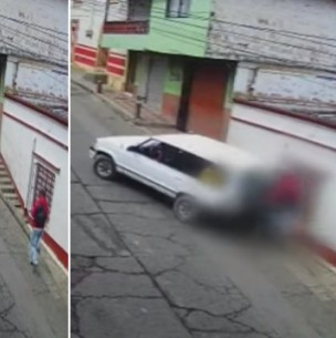 Video registra atropello de un hombre que iba distraído chateando por celular