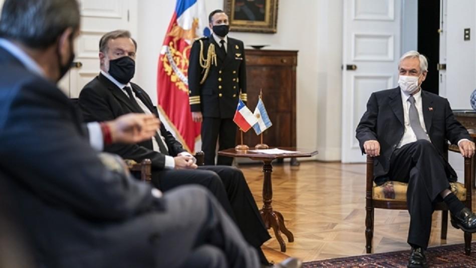 Nuevo embajador de Argentina en Chile entrega cartas credenciales a Presidente Piñera
