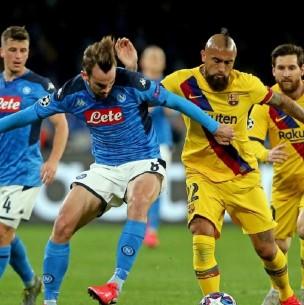 Sigue el partido del Barcelona de Arturo Vidal ante Napoli por octavos de la Champions