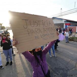 Caso Ámbar: Masiva manifiestación a las afuera de la PDI de Limache