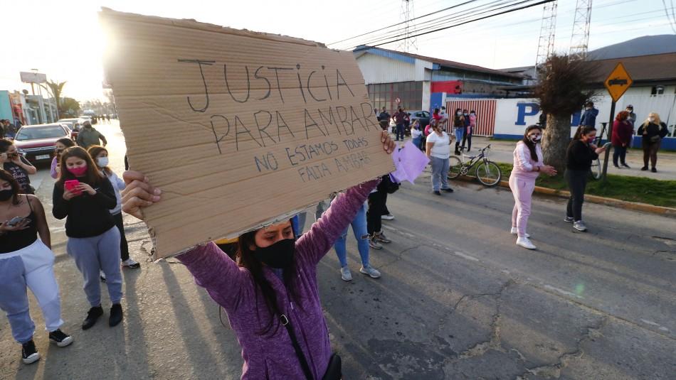 Caso Ámbar: Masiva manifestación a las afueras de la PDI de Limache