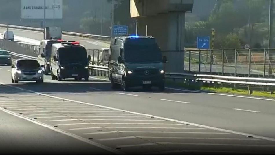 Hugo Bustamante es trasladado a Cárcel de Alta Seguridad de Santiago
