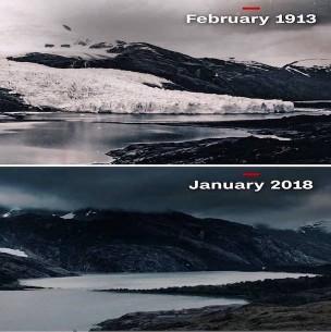 Fotógrafo chileno muestra cómo desaparece hielo de la Patagonia: