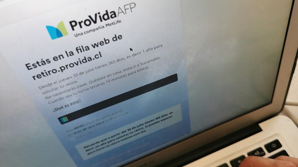 AFP Provida tras inicio de pagos del 10%: