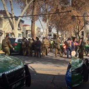Robo a banco termina con persecusión, balacera y detención de dos sujetos en Ñuñoa