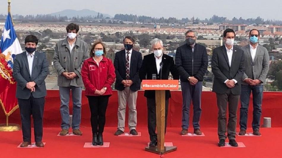 Presidente Piñera anuncia rebaja en tarifa eléctrica de calefacción en 10 comunas del país