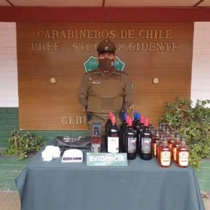 Detienen a 18 personas en fiesta clandestina en Cerro Navia: Se incautó alcohol y drogas