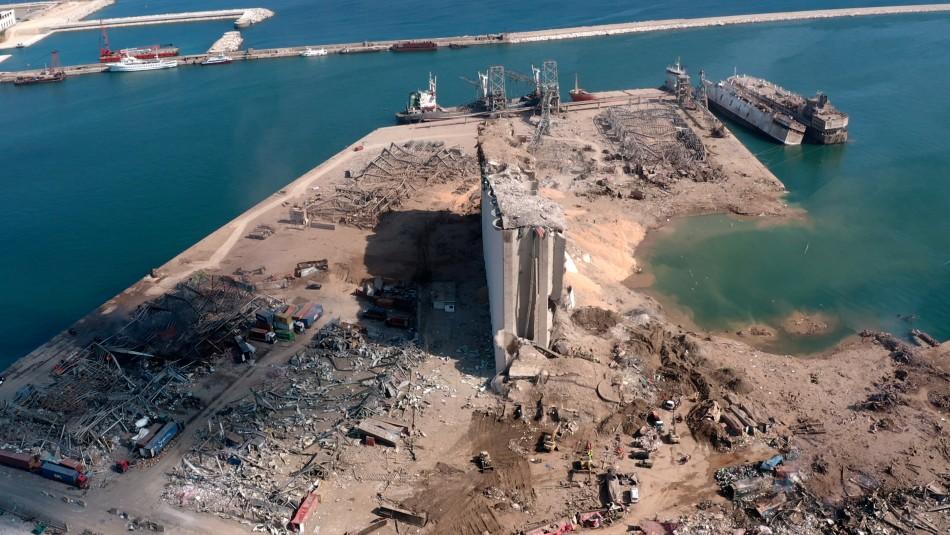 Explosión en Beirut habría generado un cráter de 43 metros de profundidad