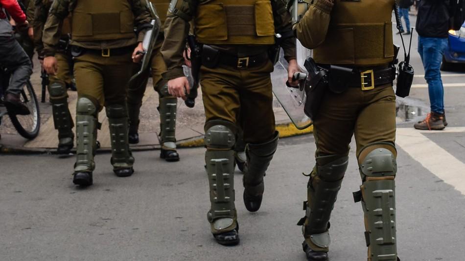 Carabinero resulta herido con trauma ocular durante manifestaciones en Curacautín