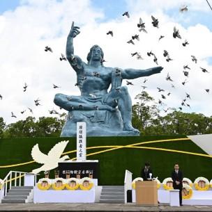 Nagasaki conmemora los 75 años del lanzamiento de la bomba atómica
