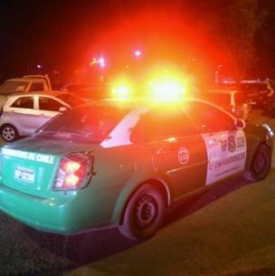 Desconocidos disparan a Carabineros luego de asaltar a repartidor en Santiago