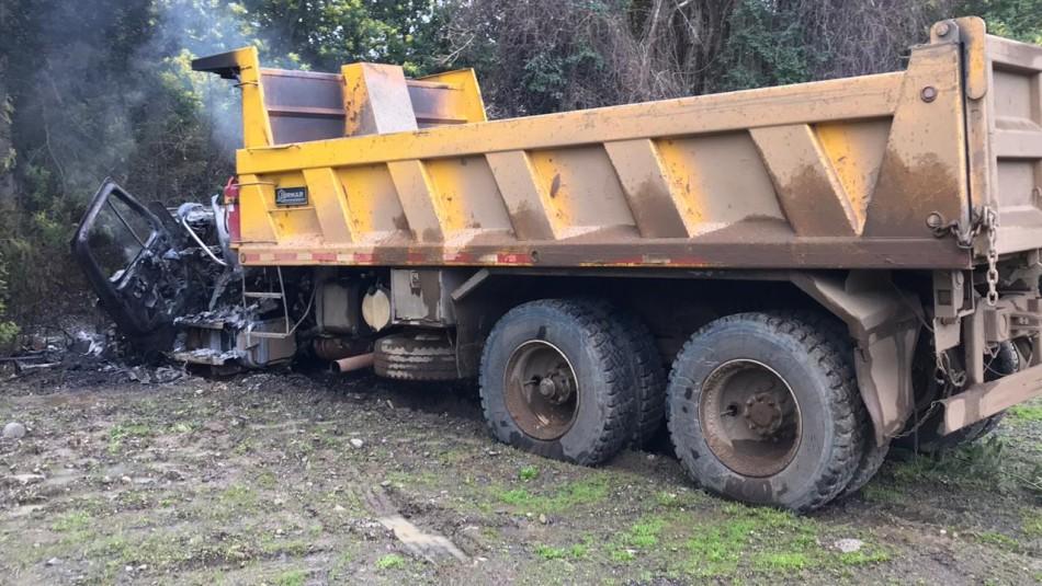 Queman dos camiones en la Región de la Araucanía justo después de reunión en La Moneda