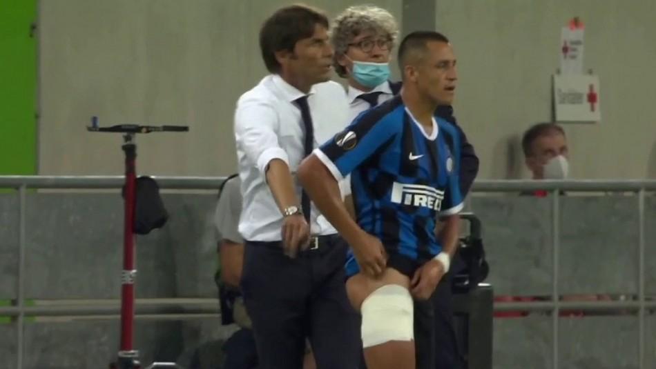 Alexis Sánchez se lesiona en triunfo del Inter.