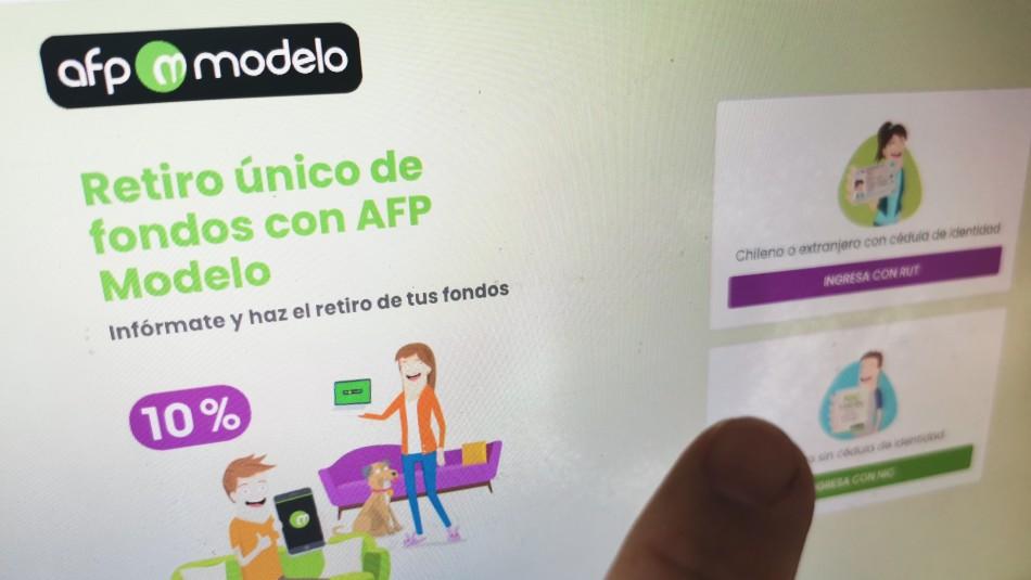 AFP Modelo comienza proceso de pago a quienes solicitaron el retiro del 10%