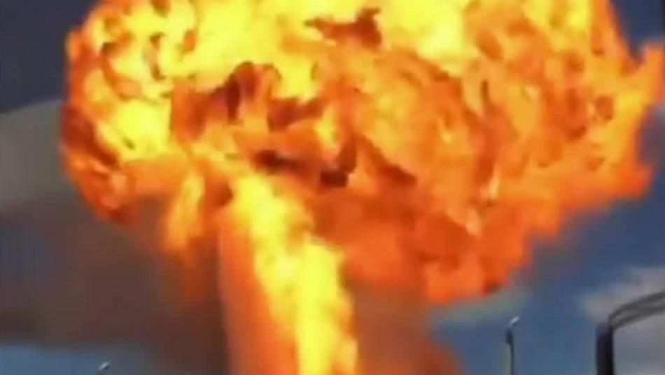 Gigantesca explosión se registra en una gasolinera en Rusia