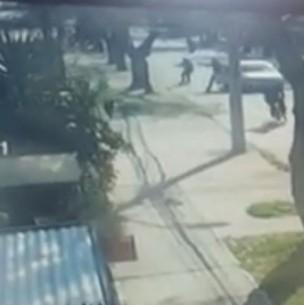 Video registra balacera en que carabineros abaten a supuesto asaltante en La Florida